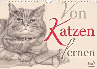 Von Katzen lernen (Wandkalender 2018 DIN A4 quer)