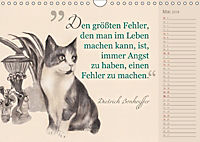 Von Katzen lernen (Wandkalender 2018 DIN A4 quer) - Produktdetailbild 5