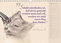 Von Katzen lernen (Wandkalender 2018 DIN A4 quer) - Produktdetailbild 2