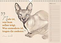 Von Katzen lernen (Wandkalender 2018 DIN A4 quer) - Produktdetailbild 3