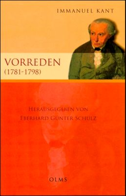 Vorreden (1781-1797), Immanuel Kant