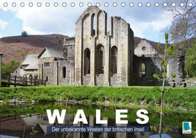 Wales - der unbekannte Westen der britischen Insel (Tischkalender 2018 DIN A5 quer), CALVENDO