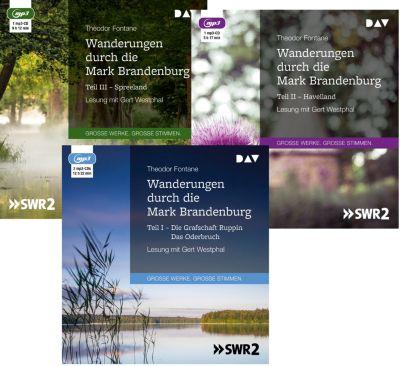 Wanderungen durch die Mark Brandenburg, 4 MP3-CDs, Theodor Fontane