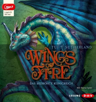 Wings of Fire - Das bedrohte Königreich, 1 MP3-CD, Tui T. Sutherland