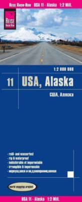 World Mapping Project Reise Know-How Landkarte USA, Alaska (1:2.000.000), Reise Know-How Verlag Peter Rump