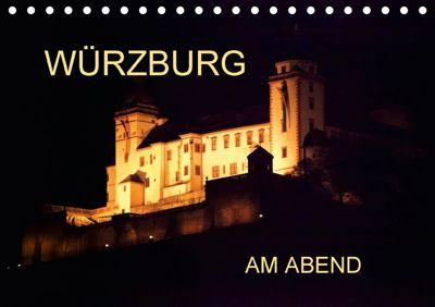 Würzburg am Abend (Tischkalender 2018 DIN A5 quer), Anette Jäger