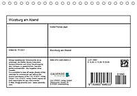 Würzburg am Abend (Tischkalender 2018 DIN A5 quer) - Produktdetailbild 13