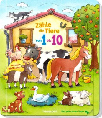 Zähle die Tiere von 1 bis 10