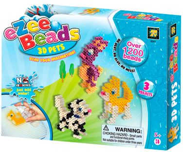 eZee Beads - 3D Tiere 1.200 Perlen