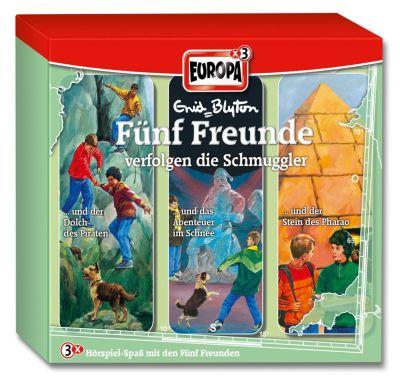 Fünf Freunde Band 42/59/63: 3er Box Fünf Freunde verfolgen die Schmuggler (3 Audio-CDs), Enid Blyton