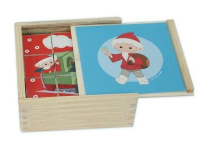 Holz-Bilderwürfel Unser Sandmännchen und seine Freunde (Würfelpuzzle)