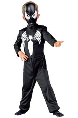 Kostüm Spiderman, schwarz, Overall, inklusive Maske, Größe 116