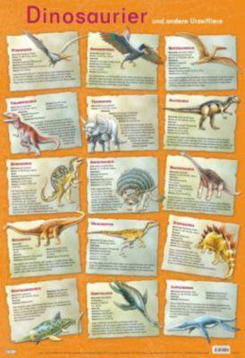 Mein Lernposter: Dinosaurier und andere Urzeittiere