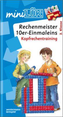 mini LÜK, Übungshefte: Rechenmeister 10er- Einmaleins: Kopfrechentraining, Michael Junga