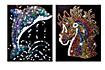 """Paillettenbilder (Motive: """"Pferd & Delfin"""") - Produktdetailbild 1"""