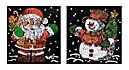 "Paillettenbilder (Motive: ""Weihnachtsmann & Schneemann"") - Produktdetailbild 1"