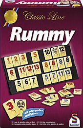 Schmidt - Classic Line Rummy, Gesellschaftsspiel, mit extragroßen Figuren