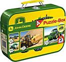 """Schmidt Puzzle """"Traktor John Deere"""", 2 x 60 und 2 x 100 Teile"""