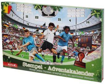 Stempel-Adventskalender Fußball