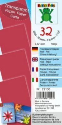 Transparentpapier rot