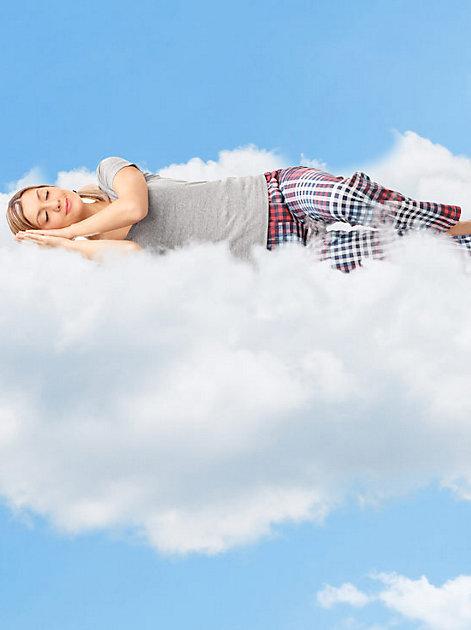 Erholsam: träumen auf Wolke Sieben