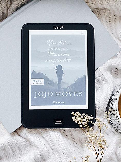 """tolino vision 4 HD eBook-Reader mit dem eBook """"Nächte in denen Sturm aufzieht"""" von Jojo Moyes"""