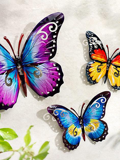 Fröhliche Farben an der Wand: Wanddeko Schmetterlinger