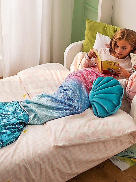 Meerjungfrauendecke zum Einkuscheln für kleine Nixen