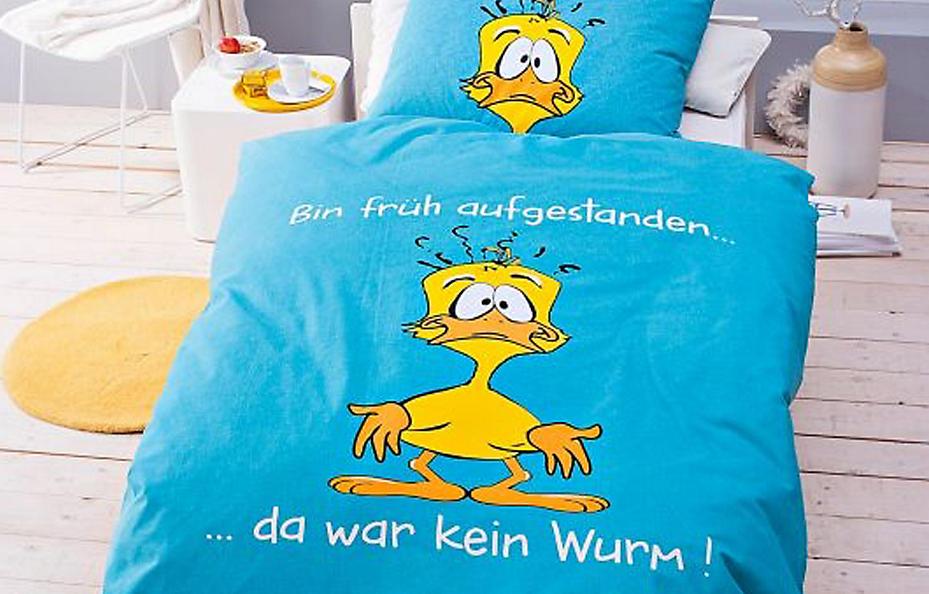 """Lustige Bettwäsche """"Bin früh aufgestanden"""""""