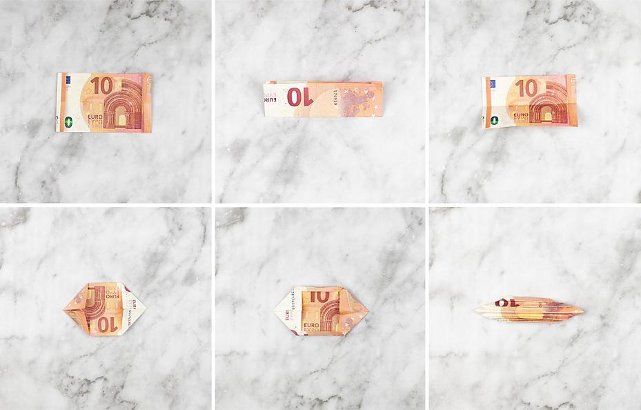Anleitung für ein originelles Geldgeschenk mit gefalteten Schmetterlingen