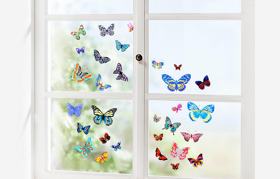 Schmetterlinge als Fenstersticker