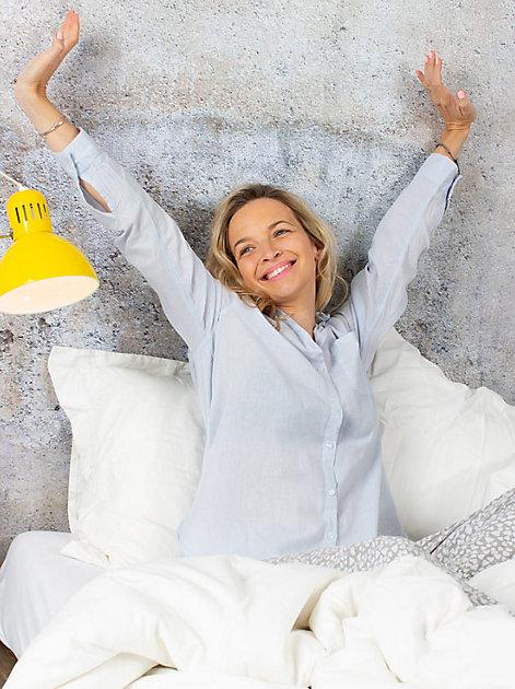 Ausschlafen, recken, gut frühstücken - und der Tag kann kommen