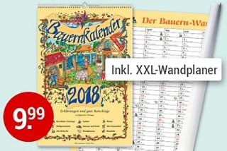 Bauernkalender 2018 - liebevoll illustriert und mit Ratschlägen zu Garten, Wetter, alten Bräuchen u.v.m.