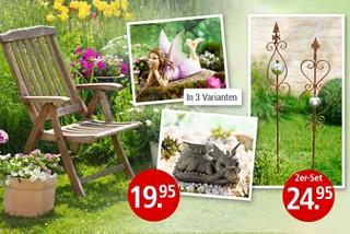 Gartendekoration für jeden Geschmack