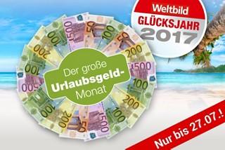 Weltbild Glücksjahr 2017: Bis zu 2.000.- € Urlaubsgeld gewinnen!