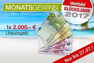 Der große Urlaubsgeld-Monat: Bis zu 2.000.- € Urlaubsgeld gewinnen!