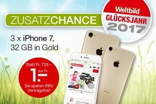 Preiszauber: iPhone 7 für nur Fr. 1.- !