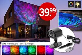 """Magische Lichteffekte: LED-Strahler """"Polarlichter"""""""