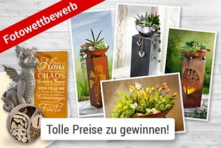 """Fotowettbewerb """"Pflanzsäulen kreativ dekoriert"""" - jetzt Foto hochladen & mit etwas Glück tolle Preise gewinnen!"""