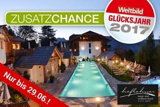 Zusatzchance: Einwöchiger Wohlfühlurlaub für 2 Personen im Wert von rund 2.550.- €!
