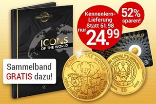 Icons of the world - Goldmünze