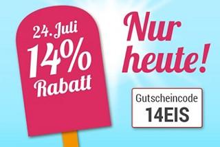 Gutschein-Countdown: Nur heute 14% Rabatt für Sie!