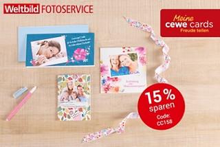 Grüße versenden mit CEWE CARDS. Jetzt 15% sparen!