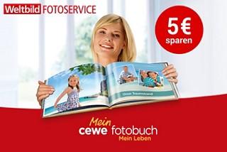 Sparen Sie 5€ auf das CEWE FOTOBUCH!