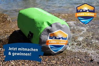 Gewinnspiel Trockensack «Aaretubing» 20 Liter, #aareschwumm