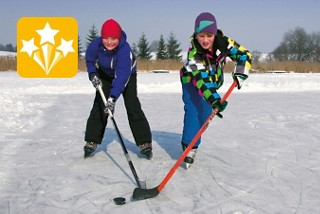 Eislaufen und Fischen in La Brevine