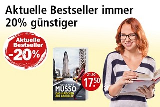 Aktuelle Bestseller immer 20% günstiger!