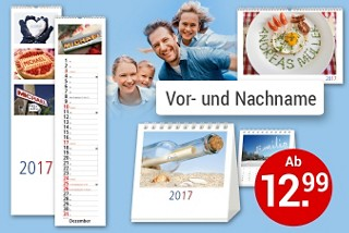 Persönliche  Kalender mit Wunschnamen - die besondere Geschenkidee
