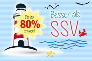 Besser als SSV - jetzt Schnäppchen bis zu 80% günstiger sichern!