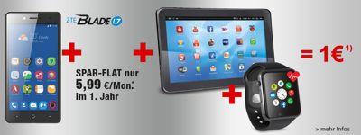 Top-Handy + 2 Prämie für nur 1€!